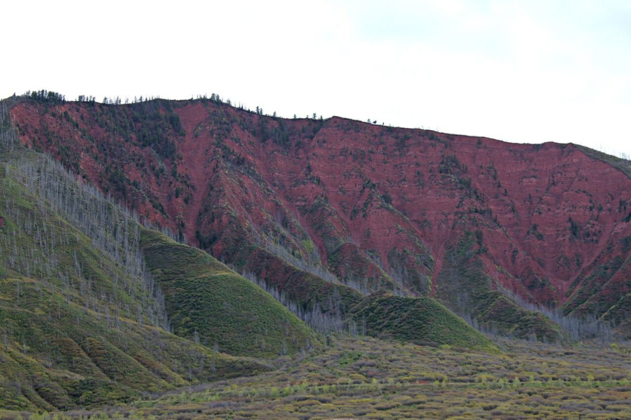 Reddish cliffs of Glenwood Springs, Colorado