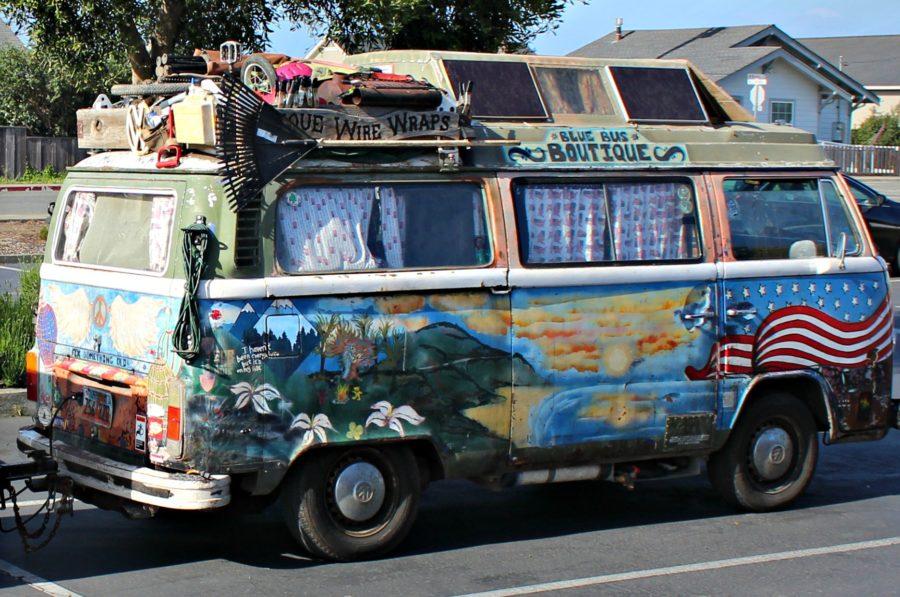 Hippie Van Mendocino County