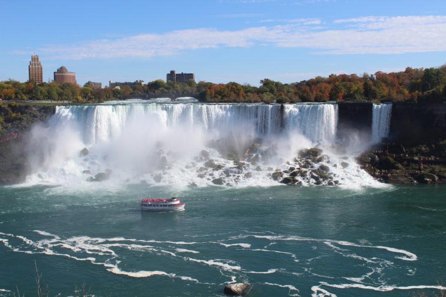 boat ride near Niagara Falls