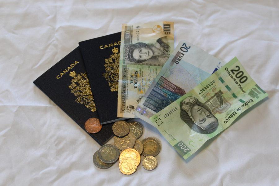 passports and money from around the world
