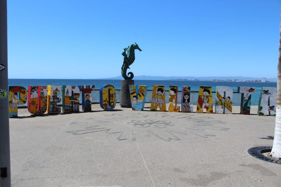 Puerto Vallarta Malecon sign