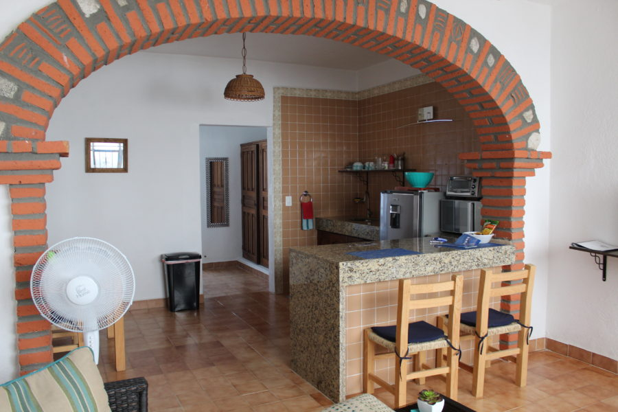 inside our airbnb in puerto vallarta