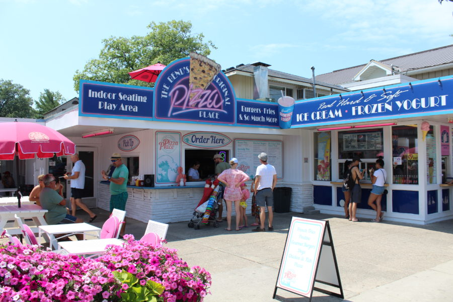 a pizza and ice cream parlour in Grand Bend