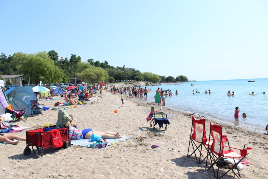 sandy beach in Goderich Ontario