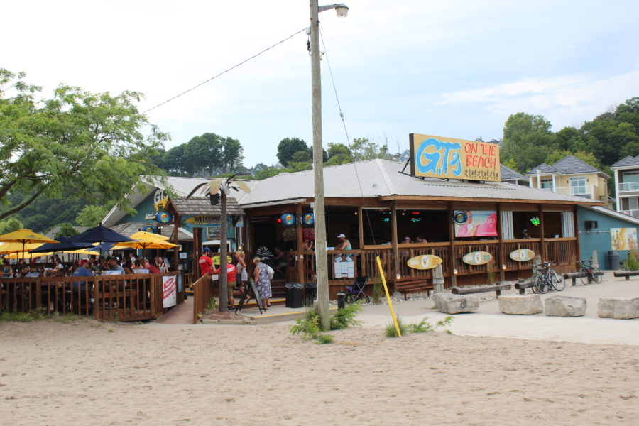 bar on the beach in Port Stanley