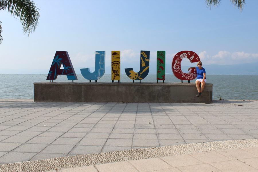 Ajijic sign in Mexico