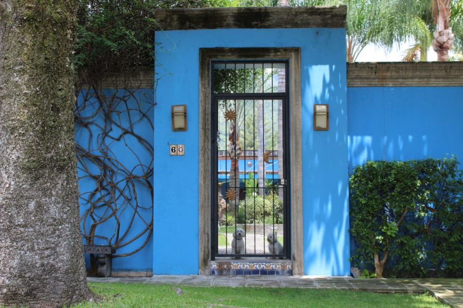 blue house in Mexico