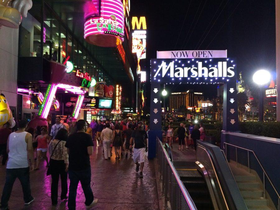 shops along the Las Vegas strip