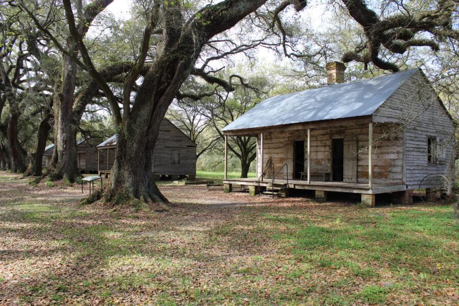 Evergreen Plantation slave cabins