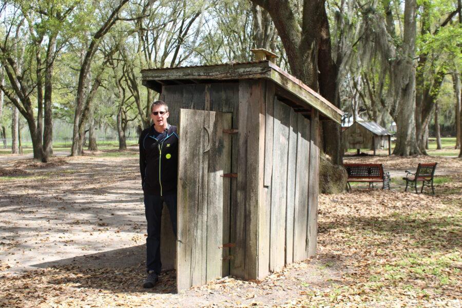 Destrehan Plantation outhouse