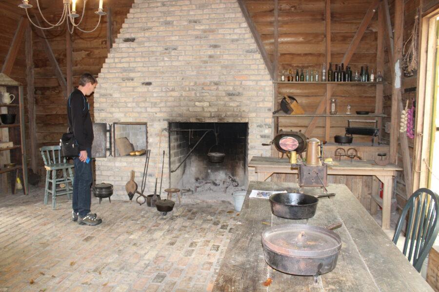 Destrehan plantation outdoor kitchen