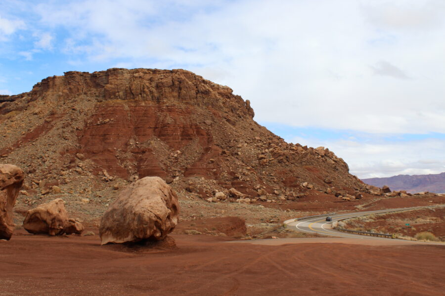 red cliffs near Marble Canyon