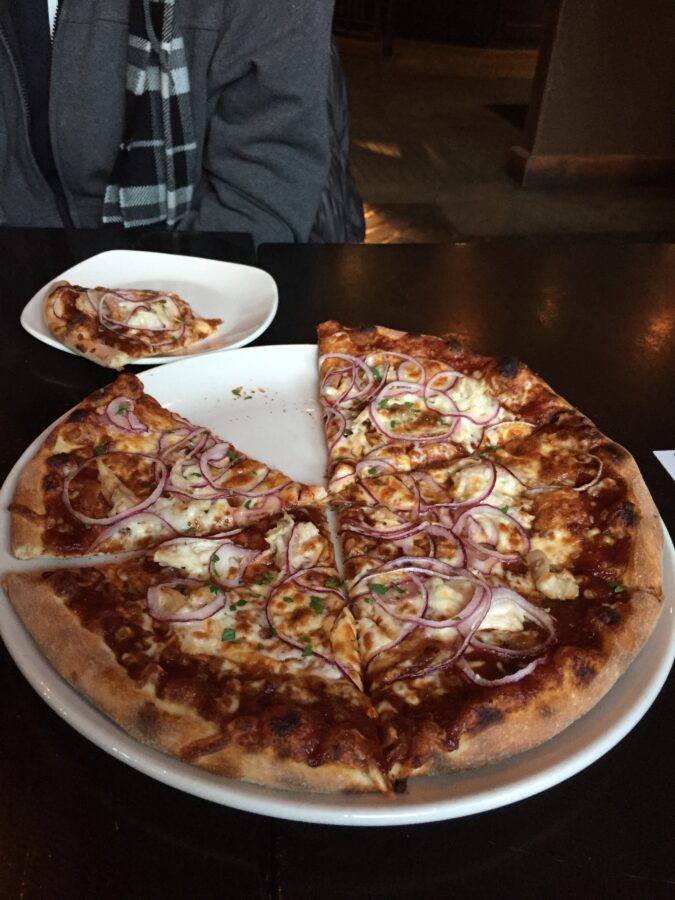 wood fired pizza Brewhouse Whistler