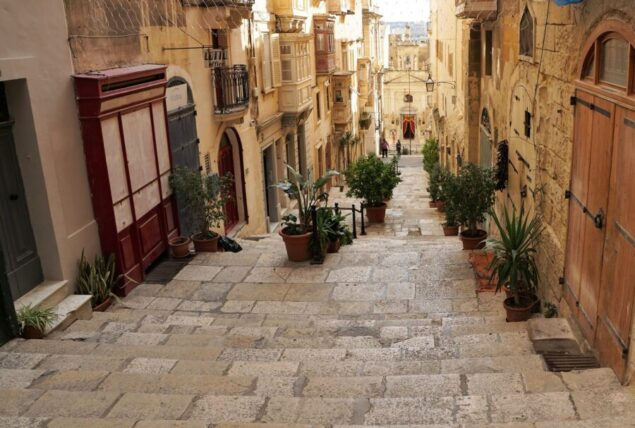 street in Valetta Malta